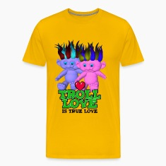 Yellow Troll Love Is True Love T-Shirts