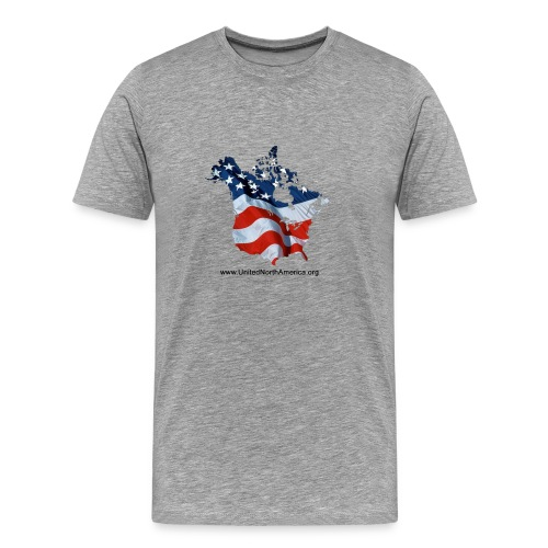 Heavyweight T-shirt with Stars & Stripes over North America - Men's Premium T-Shirt