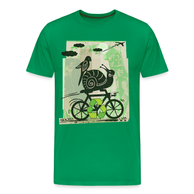 Sage Earth Day Recycling Snail  T-Shirts