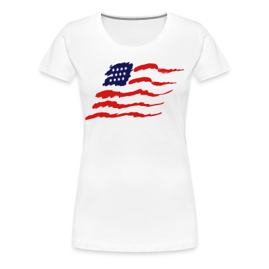 White american flag Plus Size