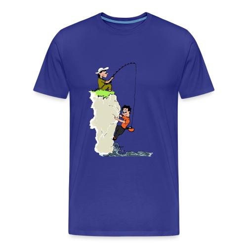 Climbing T-shirt - Deep Water Solo & Fisherman - Color Print - Men's Premium T-Shirt