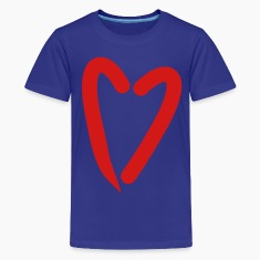 Turquoise funky as trendy red heart Kids' Shirts