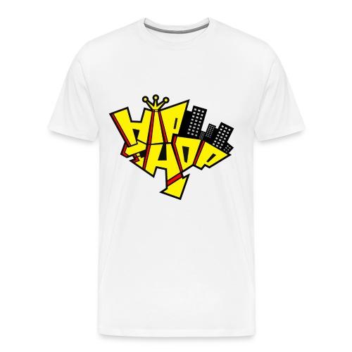 Men's Hip Hop T Shirt WHT - Men's Premium T-Shirt