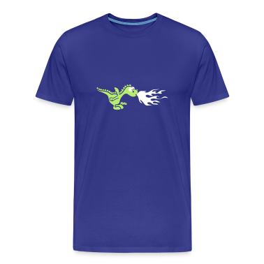 Royal blue Fire Dragon T-Shirts