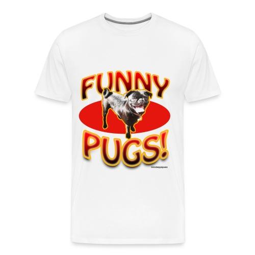 Funny-Pugs.com Tee - Men's Premium T-Shirt