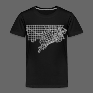 Detroit Street Map Toddler T-Shirt - Toddler Premium T-Shirt