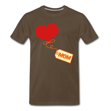 Brown mom pretty balloon and gift tag prestn for Mothers day ! T-Shirts