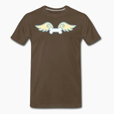 Brown a dog bone with wings T-Shirts
