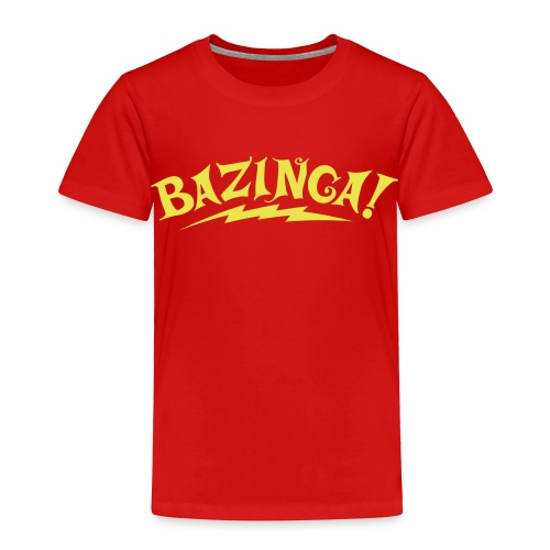 BAZINGA T-Shirt Sheldon Toddler - New! - Toddler Premium T-Shirt
