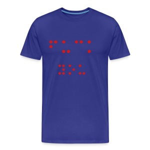 Fuck You in braille - Men's Premium T-Shirt