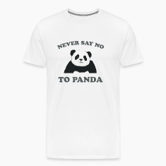 Natural Never Say No To Panda - Grey T-Shirts