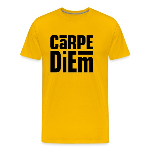 Carpe Diem (Seize the Day) Dark on Heavyweight Shirt - Men's Premium T-Shirt