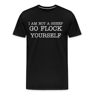 Not a Sheep - Men's Premium T-Shirt