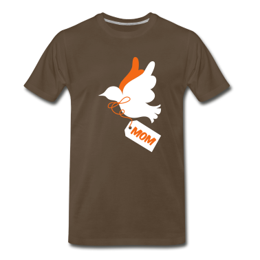 Brown PRETTY mothers day peace dove with a tag saying mom T-Shirts