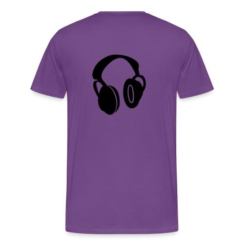 Glasses and Headphones - Men's Premium T-Shirt