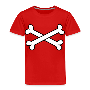 Red cool crossbones ( maybe Pirate cross Bones) Toddler Shirts