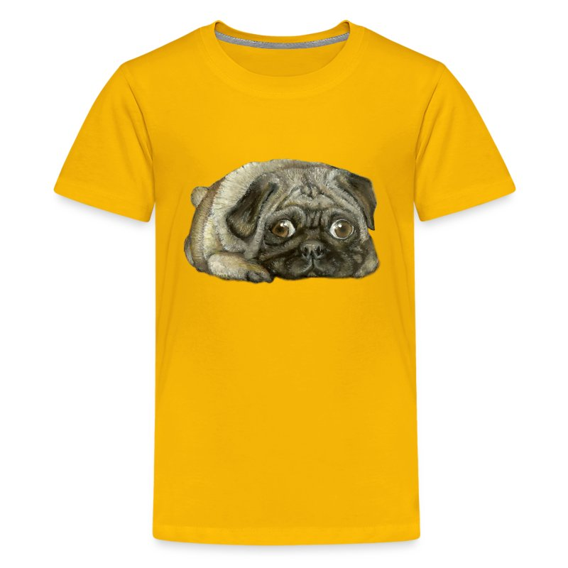 pug shirts for kids snug pug t shirt spreadshirt 9070