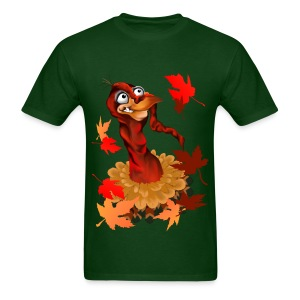 Goofy Thanksgiving Turkey - Men's T-Shirt