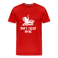 T-Shirts ~ Men's Premium T-Shirt ~ Red Octopus Don't Tread On Me