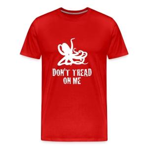 Red Octopus Don't Tread On Me - Men's Premium T-Shirt