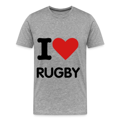 I Love: Rugby - Men's Premium T-Shirt