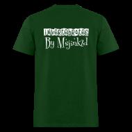 T-Shirts ~ Men's T-Shirt ~ Msjinkzd: Men's Flock Printed T