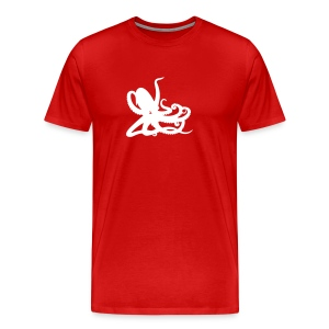 Red Octopus Men's T - Men's Premium T-Shirt