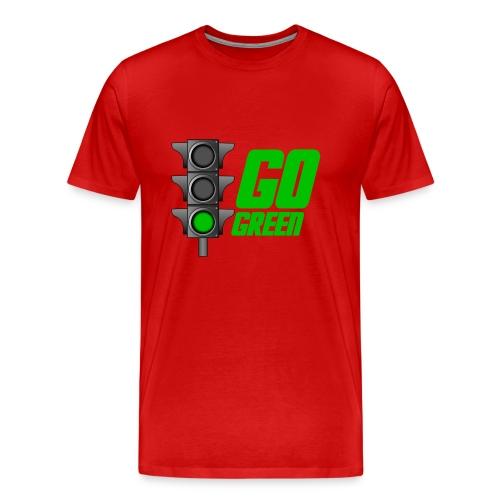 Go Green Red - Men's Premium T-Shirt