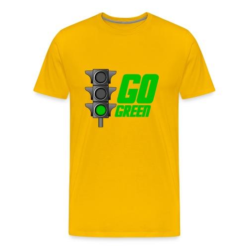 Go Green Yellow - Men's Premium T-Shirt