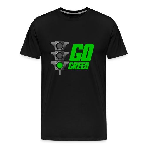 Go Green Black - Men's Premium T-Shirt
