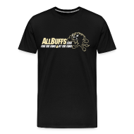 T-Shirts ~ Men's Premium T-Shirt ~ Allbuffs Logo Front, Got Stoudt? Lower Back
