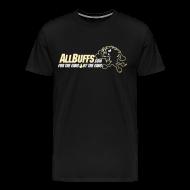 T-Shirts ~ Men's Premium T-Shirt ~ Allbuffs Logo Front, Got Stoudt? Lower Back