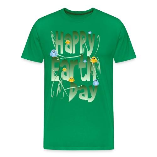 Happy Earth Day and Birds - Men's Premium T-Shirt