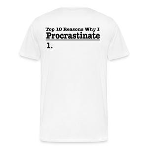 SuperShirt-ProCrastinate Tee - Men's Premium T-Shirt