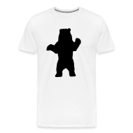 T-Shirts ~ Men's Premium T-Shirt ~ black bear white