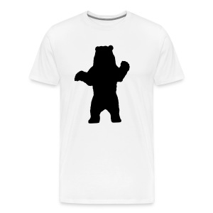 black bear white - Men's Premium T-Shirt