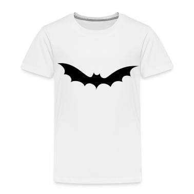 White bat halloween Toddler Shirts
