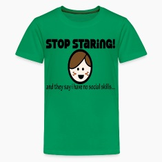 Kelly green staringboy Kids' Shirts