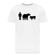 T-Shirts ~ Men's Premium T-Shirt ~ Man Bear Pig Shirt