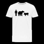 T-Shirts ~ Men's Premium T-Shirt ~ Man Bear Pig Shirt