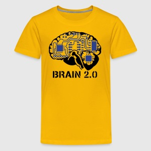 Yellow brain 2.0 Kids' Shirts - T-shirt premium pour ados