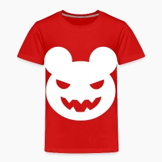Red halloween evil bear Toddler Shirts