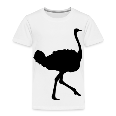 White ostrich Toddler Shirts