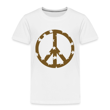White peace sign Toddler Shirts