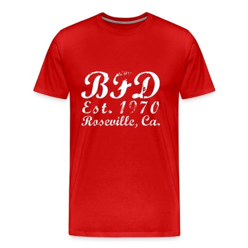 BFD - White Text - Men's Premium T-Shirt