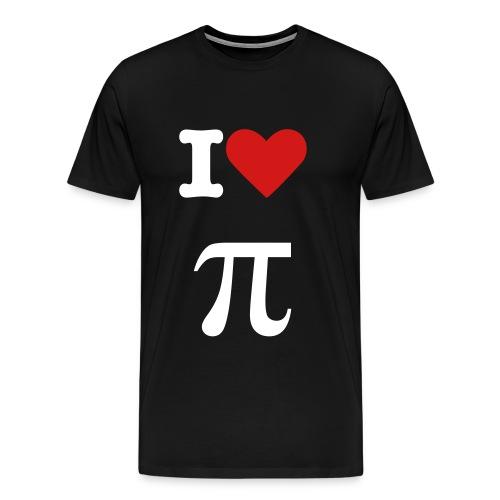 I <3 pi(e) - Men's Premium T-Shirt