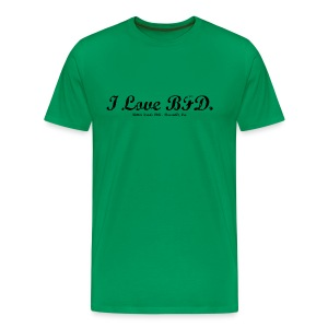 I Love BFD - Black Text - Men's Premium T-Shirt