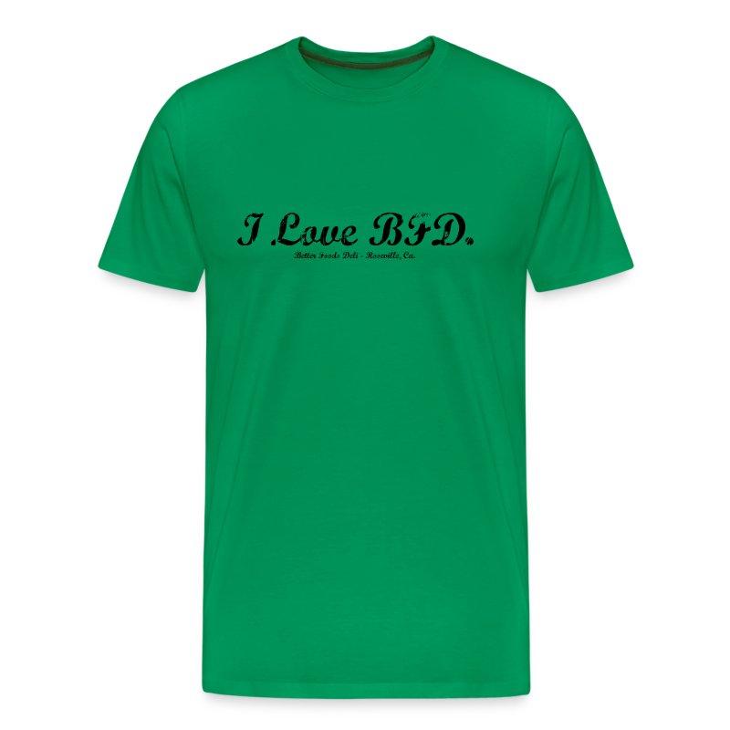 I Love BFD - Black Text - Men's Premium T-Shirt