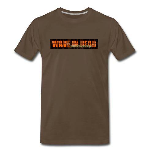 Mens WAVE brown - Men's Premium T-Shirt