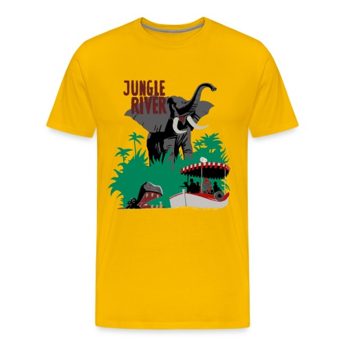 Jungle River- Vintage Disneyland Poster Style - Men's Premium T-Shirt